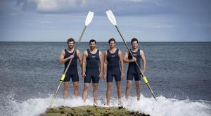 The Four Oarsmen in training ahead of the Talisker Whisky Atlantic Challenge