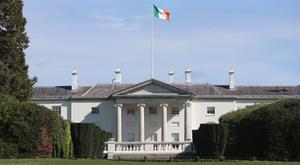 The sculpture was placed in the grounds of the president's official residence as part of Easter Rising commemorations