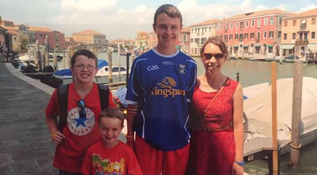 Niall, Ryan, Liam and Clodagh Hawe on holiday