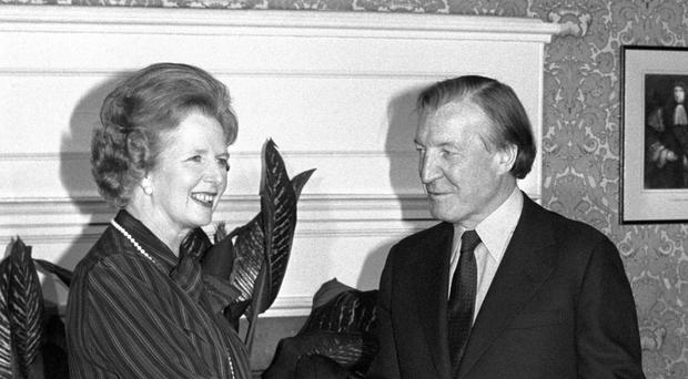 The report on the meeting between Prime Minister Margaret Thatcher and Taoiseach Charles Haughey was marked personal and secret