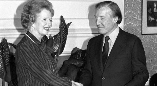 Charles Haughey and Margaret Thatcher in 1980