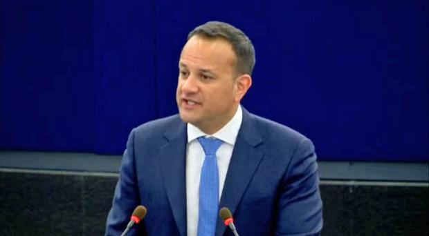 Taoiseach Leo Varadkar addressing the European Parliament in Strasbourg on the future of Europe (European Parliament/PA)