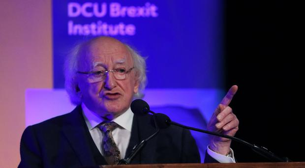 President of Ireland Michael D Higgins has warned about politicians trying to divide people based on race, religion and nationality Brian Lawless/PA)