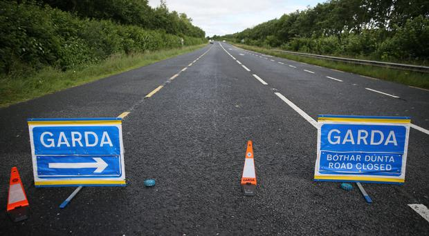A Garda road closure (Brian Lawless/PA)