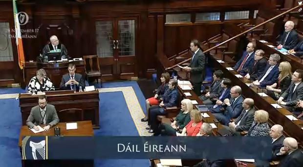 The Dail was halted as TDs rowed over who had time to ask the Taoiseach Leo Varakdar questions (Dail/PA)