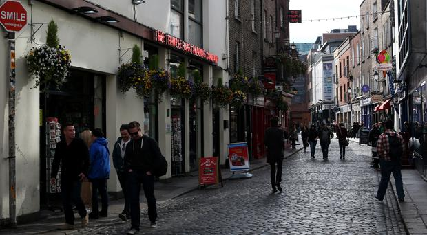 The incident had caused a transformer in the Temple Bar area to disconnect (Brian Lawless/PA)