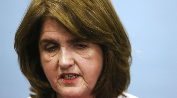 Former Tanaiste and Labour leader Joan Burton was caught up in anti-water charge protests in Jobstown. (Brian Lawless/PA)
