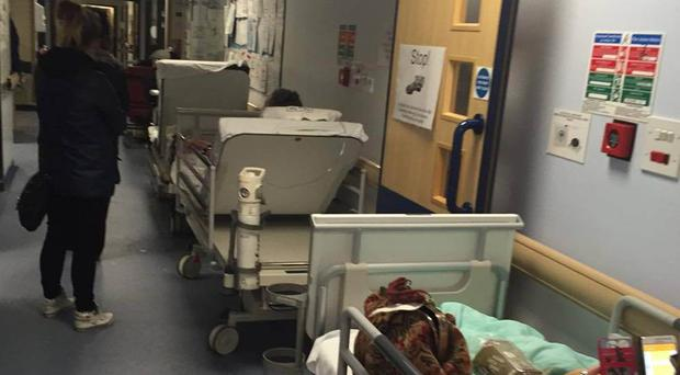 Overcrowding in hospitals 'reaches record levels'