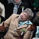 Mark Hamill during the St Patrick's day parade (Brian Lawless/PA)