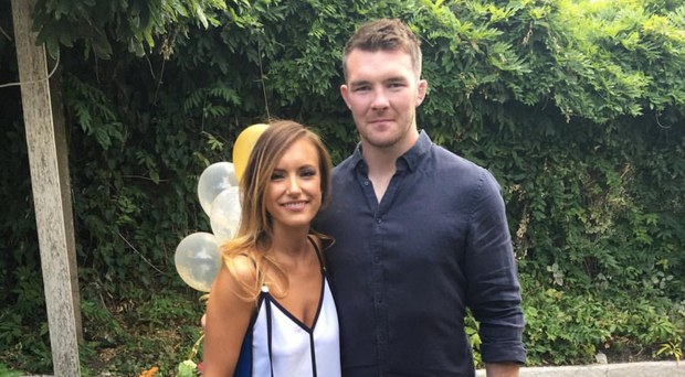 Peter O'Mahony and his long-time girlfriend Jessica Moloney