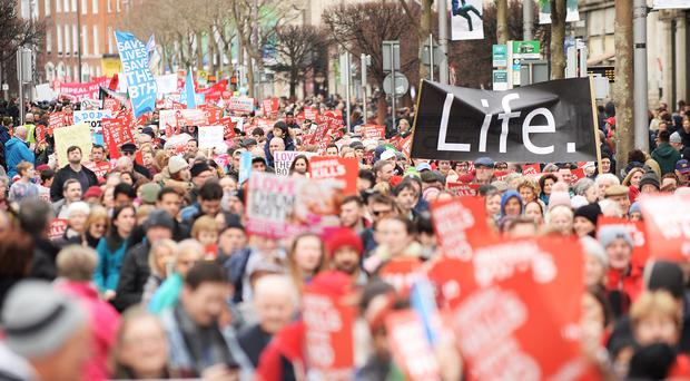 Citizens will be asked on May 25 whether they want to repeal the Eighth Amendment of Ireland's Constitution (Caroline Quinn/PA)
