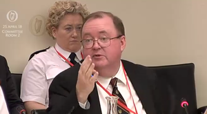 An Garda Siochana chief administration officer Joseph Nugent gives evidence to the Justice Committee (Screenshot/PA)