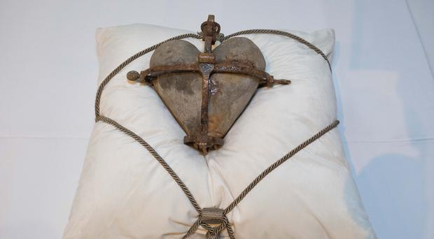 The heart of Laurence O'Toole at Christ Church Cathedral in Dublin (Tom Honan/PA)