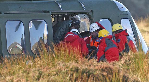 The plane went down on bog land in Co Offaly in the Irish midlands on Sunday afternoon (Niall Carson//PA)