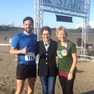 Minister for Housing Eoghan Murphy, co-founder of Together for Yes Ailbhe Smyth and Senator Ivana Bacik (right), at the start line of the Together for Yes 5km run (Eleanor Barlow/PA)