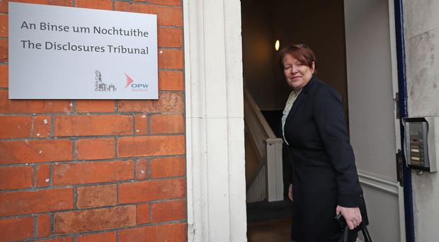 Former Garda commissioner Noirin O'Sullivan at the Disclosures Tribunal in Dublin Castle (Niall Carson/PA)