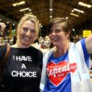 Campaigner Annette Forde at the count centre in Dublin's RDS (Brian Lawless/PA)