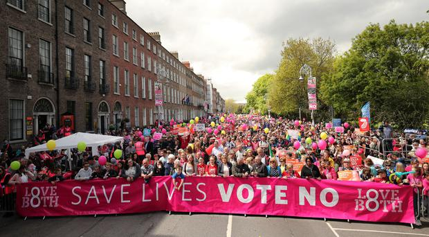 Anti-abortion demonstrators have accepted defeat in the referendum (Niall Carson/PA)