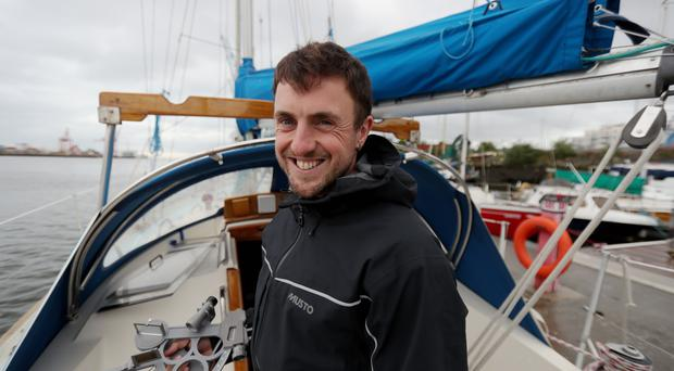 Greg McGuckin is all set for his adventure (Niall Carson/PA)