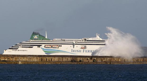 Irish Ferries offer alternative travel options after the delay of a ferry being delivered (Peter Byrne/PA)