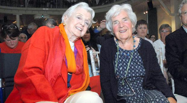 Myrtle Allen (right) with 'Murder She Wrote' star Angela Lansbury