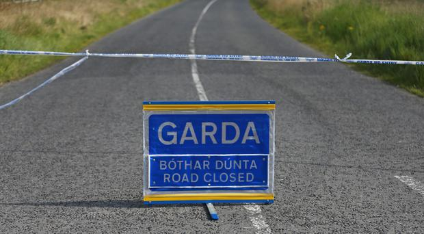 A stock Garda road closed sign (Niall Carson/PA)