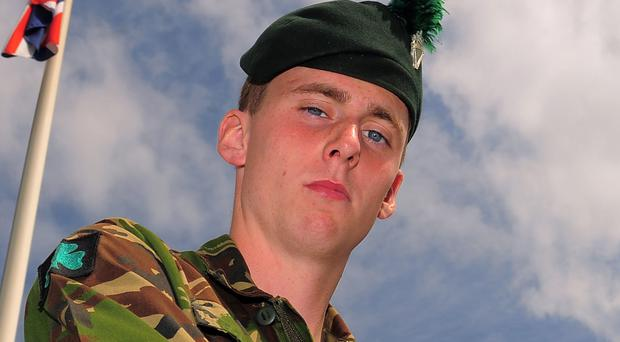 Ranger Michael Maguire, of the 1st Battalion, Royal Irish Regiment who died after coming under machine gun fire during an exercise (Andrew Matthews/PA)