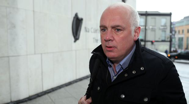 David Drumm arrives at Dublin's Central Criminal Court for a sentence hearing on two charges of fraud (PA)