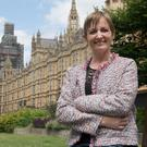 Vera Twomey at Westminster to call for a change in the UK law on medicinal cannabis (PA Wire)