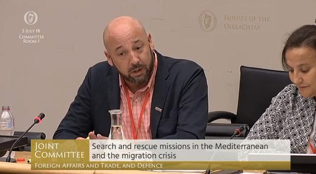 Sam Taylor spoke about search and rescue missions in the Mediterranean and the migration crisis (PA)