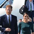 The Duke and Duchess of Sussex arrive at Dublin City Airport (Dominic Lipinski/PA)