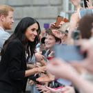 The Duke and Duchess of Sussex on a walkabout at Trinity College, Dublin (Gareth Fuller/PA)