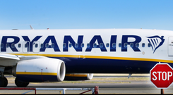 Ryanair plane at airport