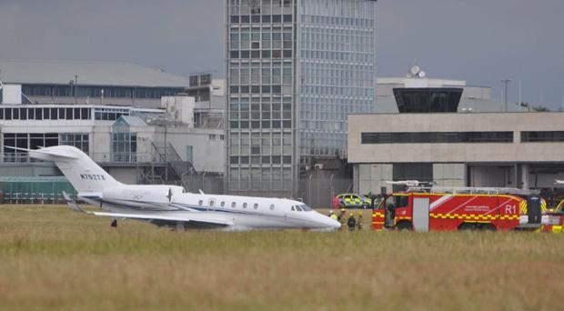 The jet at Cork Airport (Tom O'Driscoll/PA)