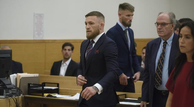 The fighter admitted disorderly conduct (Matt Crossick/PA)
