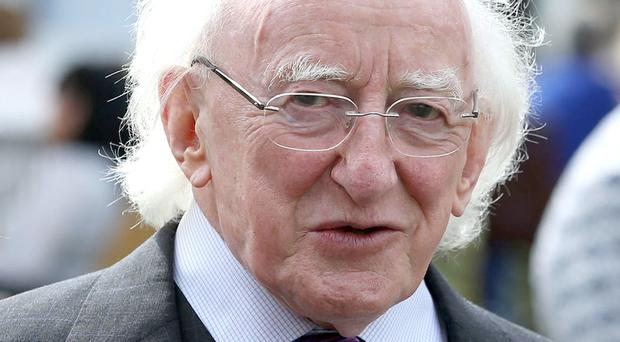 President Michael D Higgins says he is very concerned about gambling in sport (Brian Lawless/PA)