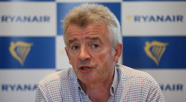 Ryanair boss Michael O'Leary said strikes by pilots and cabin crew have caused minimal disruption (Jonathan Brady/PA)