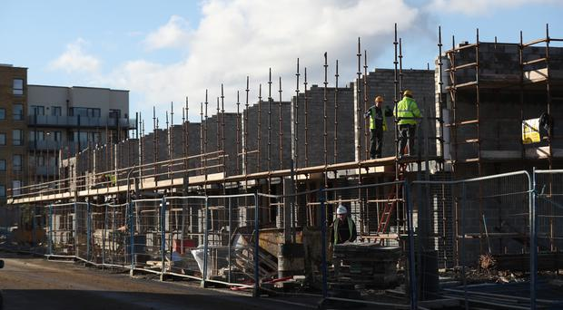 Construction work in Dublin (Niall Carson/PA)