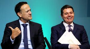 Paschal Donohoe (right) and Leo Varadkar want Ireland to become the tech capital in Europe (Brian Lawless/PA)