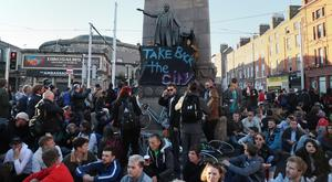 The protest in Dublin was focused on O'Connell Street (Brian Lawless/PA)