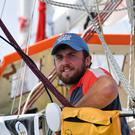 Gregor McGuckin on his yacht Hanley Energy Endurance off Lanzarote in the Canary Islands (Christophe Favreau/PPL/GGR/PA)