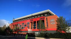 A general view of Anfield before the UEFA Champions League, Group E match between Liverpool and Sevilla.