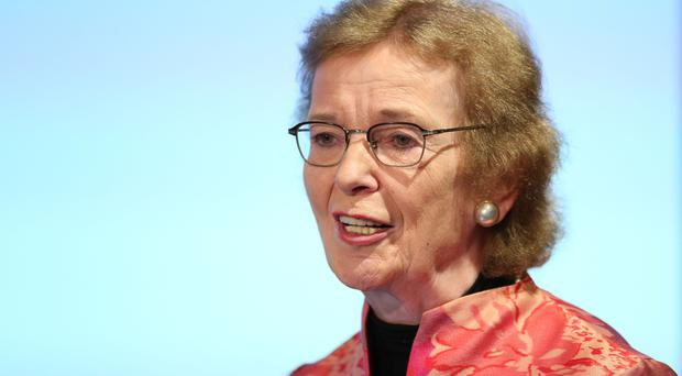 Mary Robinson said the transition to decarbonisation must support peat producing communities (PA)