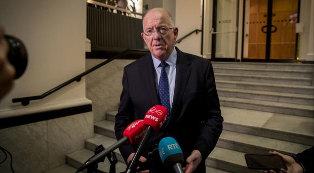 Justice Minister Charlie Flanagan, announces that the Irish government has approved his proposals for a radical new approach to the collection of data on the prevalence of sexual violence in the state (Liam McBurney/PA)