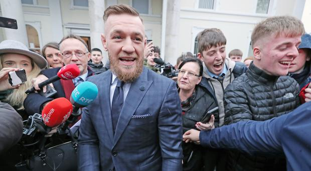 Irish UFC fighter Conor McGregor has been disqualified from driving for six months and fined 1,000 euro after being caught driving at around one and a half times the speed limit (Niall Carson/PA).