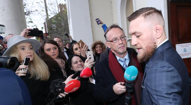 Conor McGregor admitted speeding (Niall Carson/PA)
