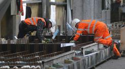The number of people employed in construction increased by 12,300 (PA)