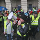 Several hundred people have attended an Irish protest in solidarity with the French yellow jacket demonstrations (Niall Carson/PA)