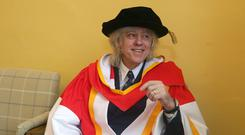 Bob Geldof, who received an honorary doctorate from the University of Limerick yesterday