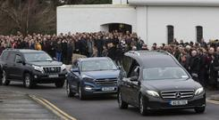 The funeral of Dawn Croke at St Crona's Church, Dungloe, Co Donegal